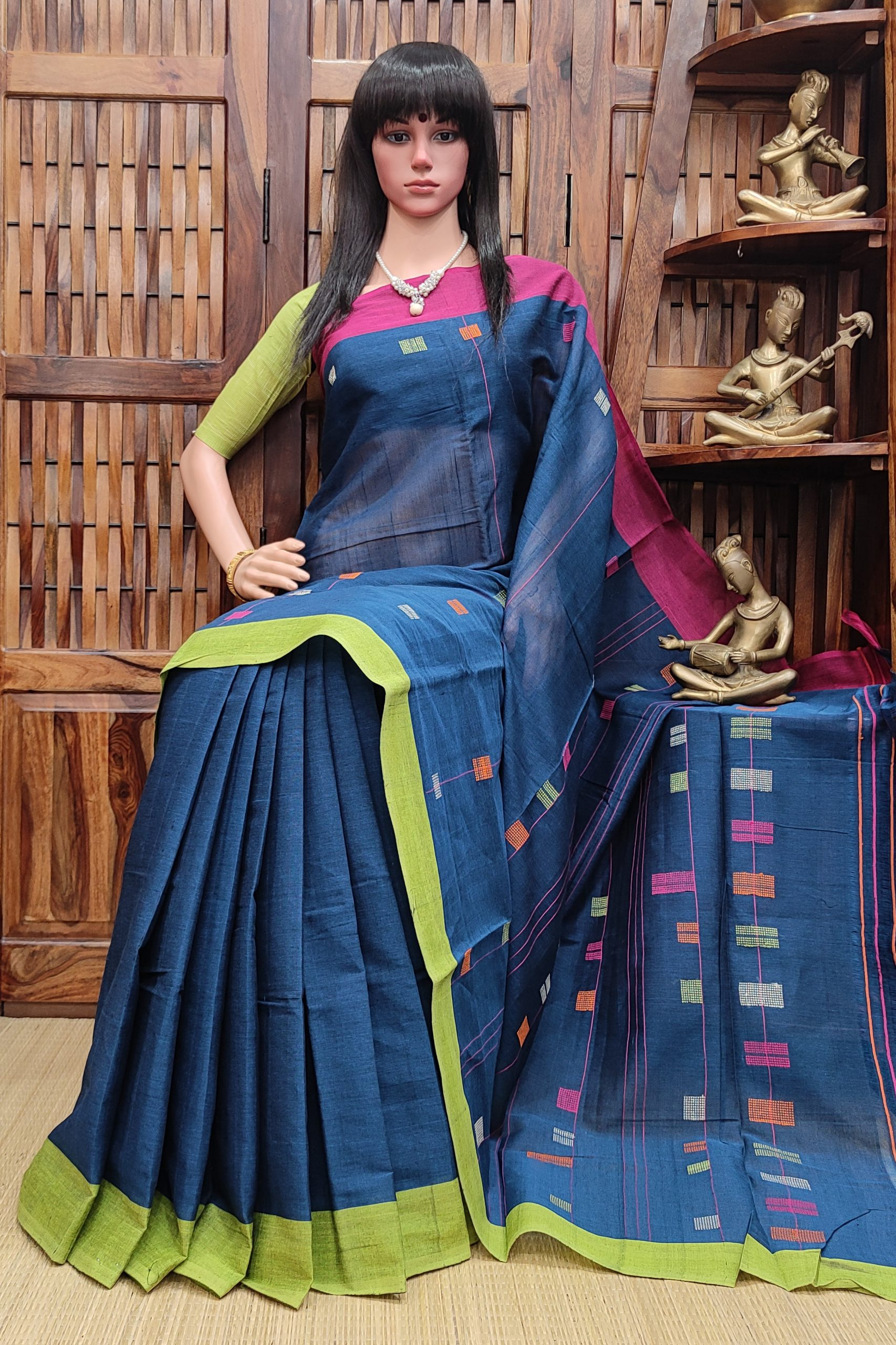 Jaagariti - Jamdani Cotton Saree
