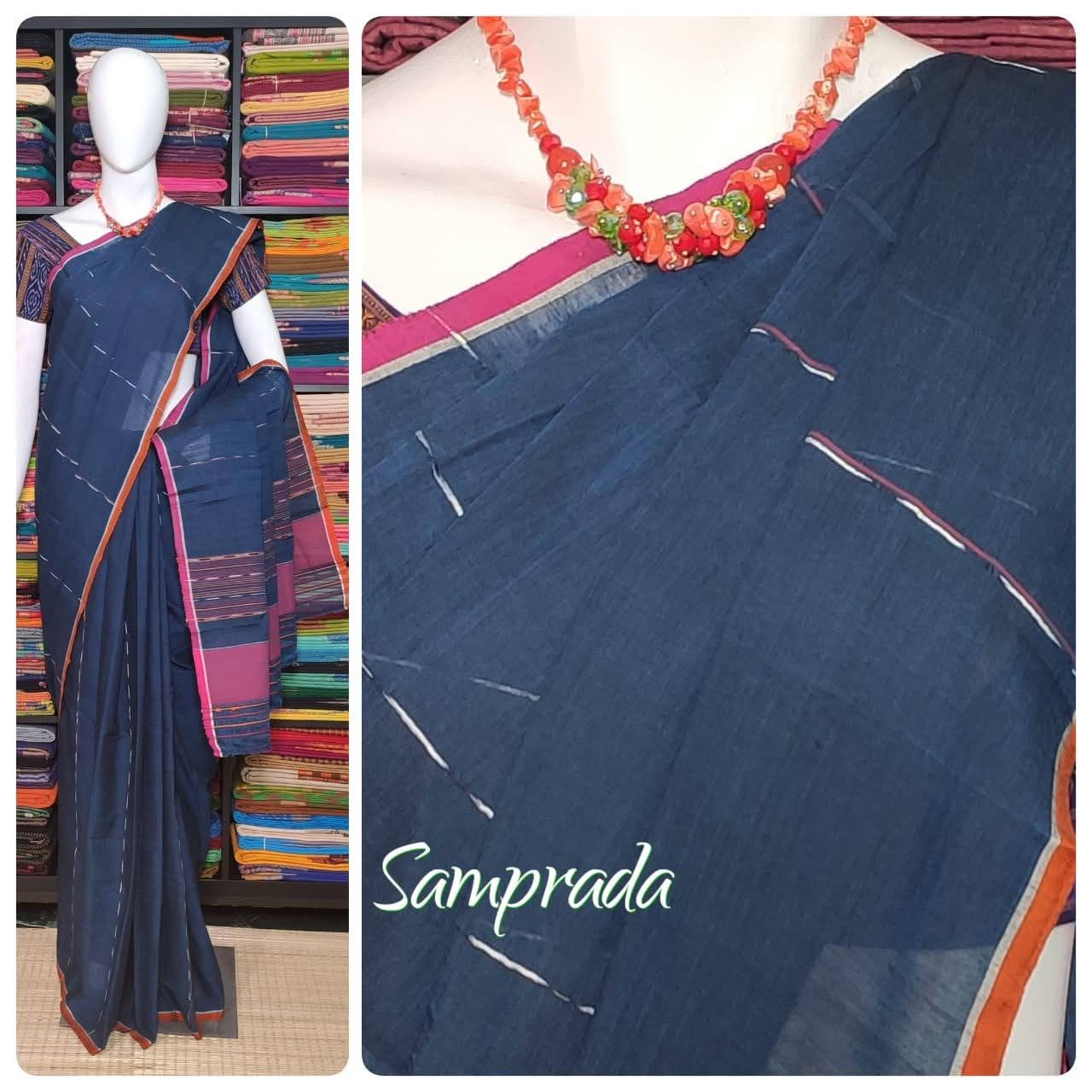 Jaagritha - Jamdani Cotton Saree