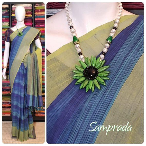 Jaanvhi - Jamdani Cotton Saree
