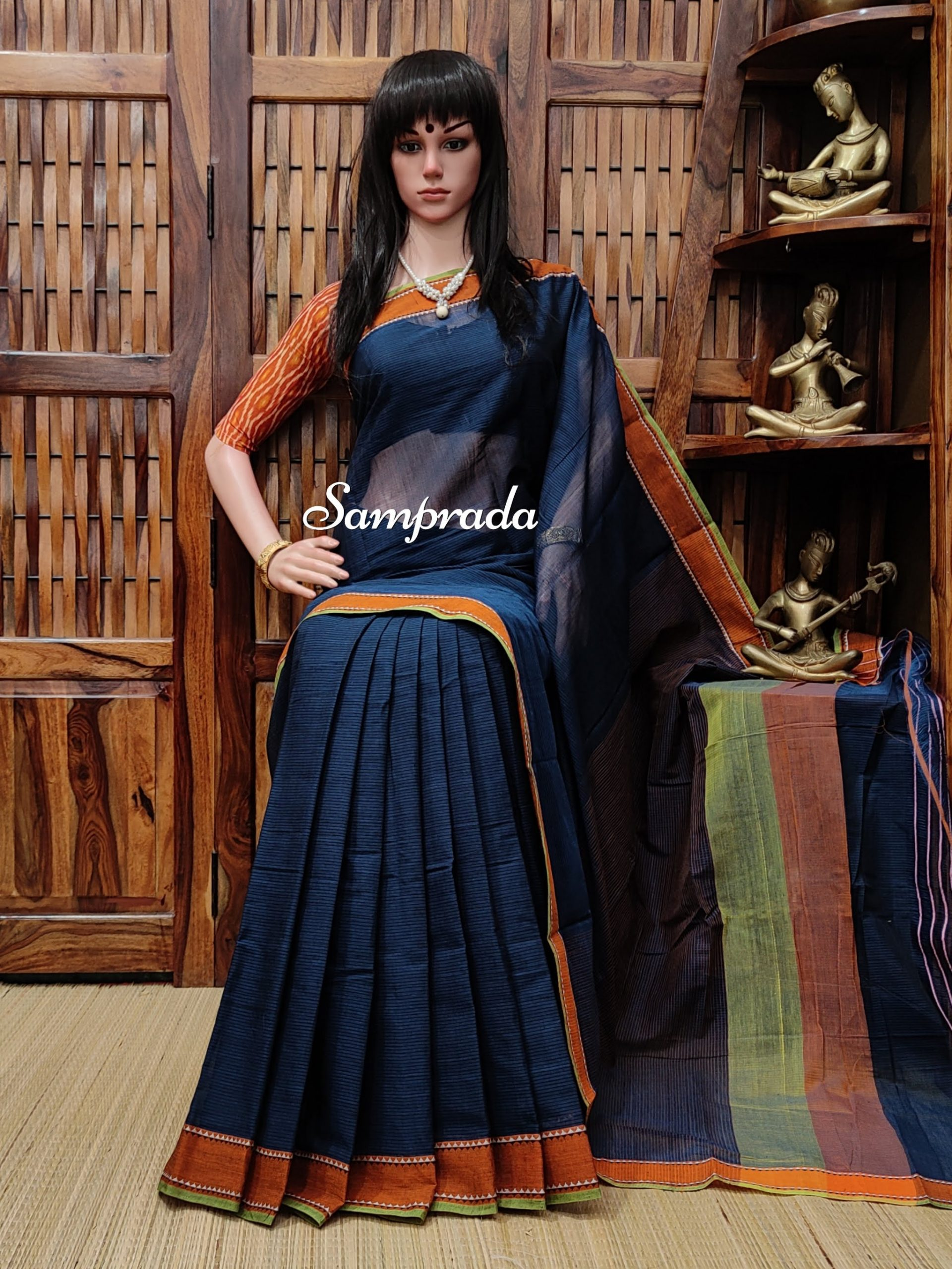 Jasleena - Jamdani Cotton Saree