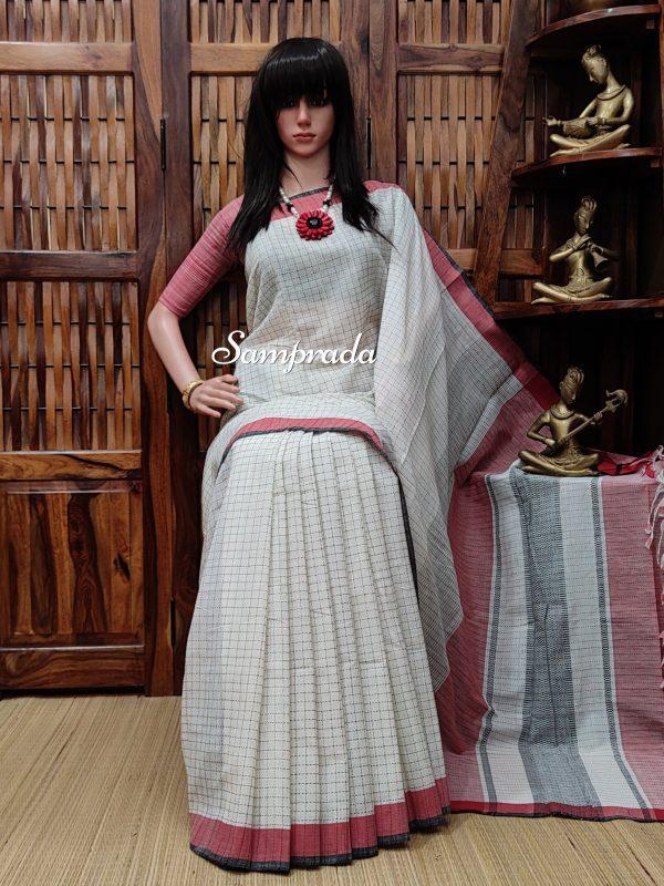 Jayamanohari - Jamdani Cotton Saree