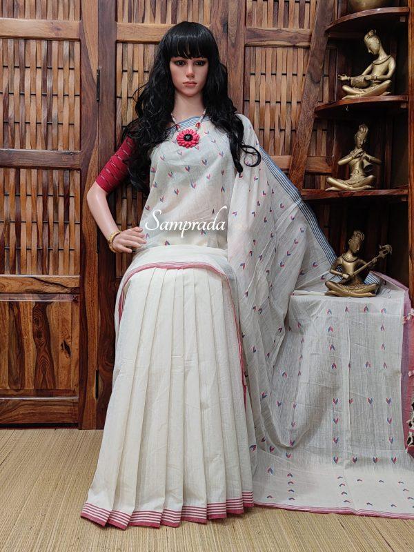 Jithya - Jamdani Cotton Saree