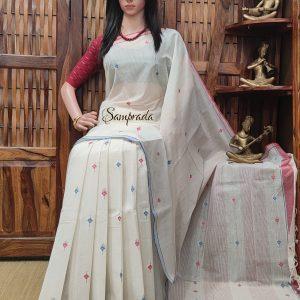 Jushti - Jamdani Cotton Saree