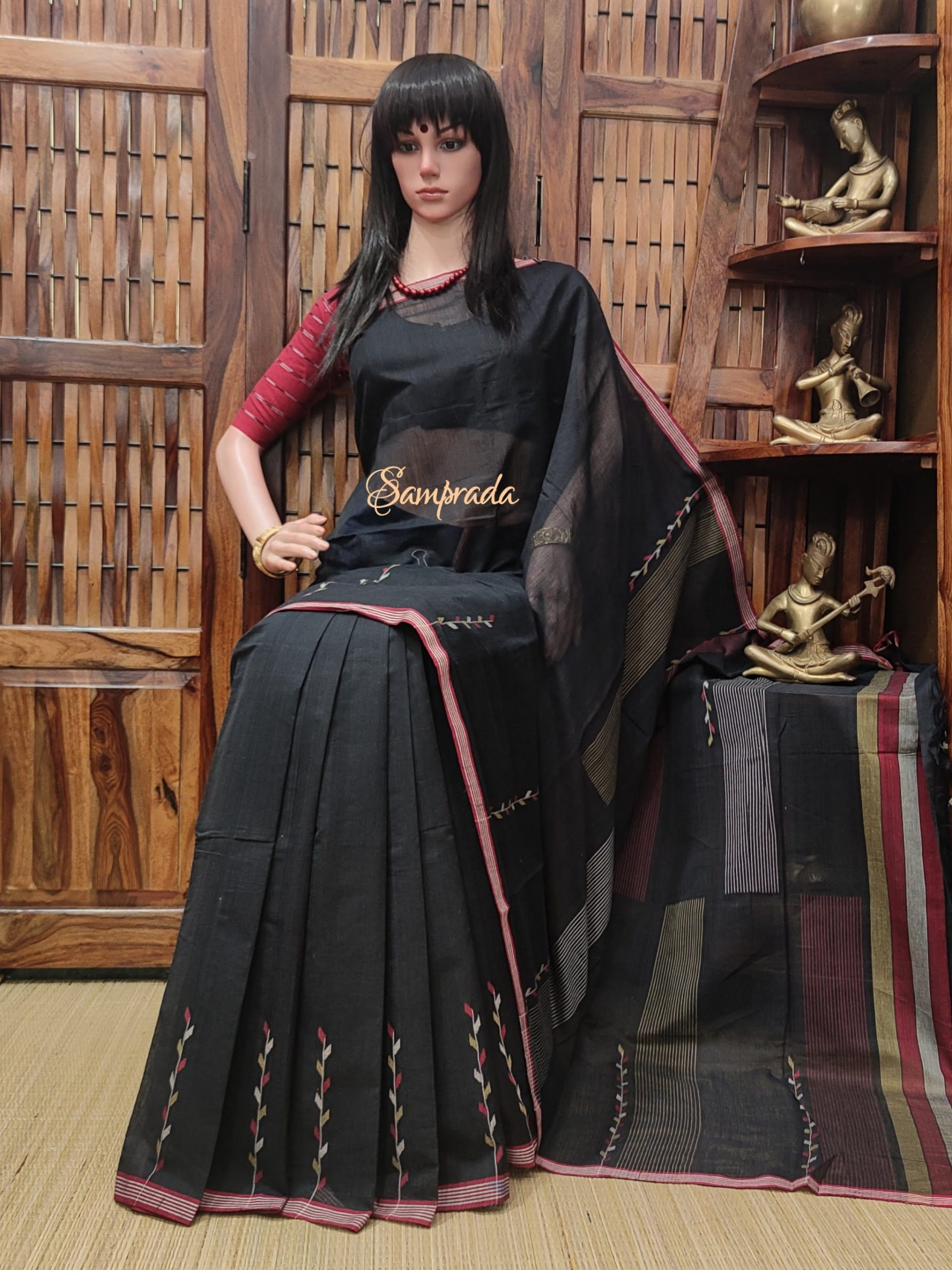 Jyothishmati - Jamdani Cotton Saree