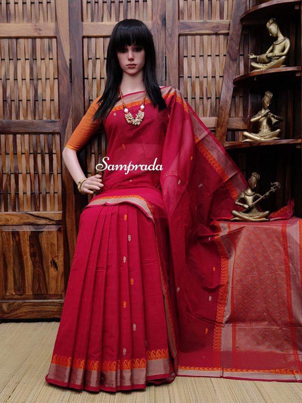 Aashcharya - Kanchi Cotton Saree