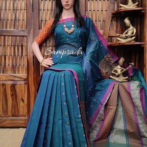 Ambhojini - Kanchi Cotton Saree