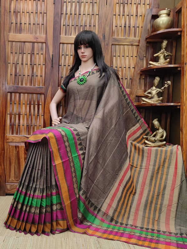 Madhushri - Mercerized Pearl Cotton Saree