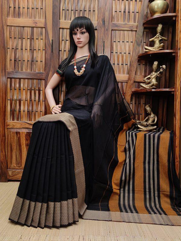 Mahabhadra - Mercerized Pearl Cotton Saree