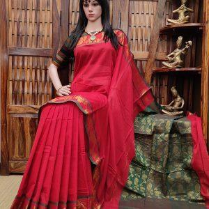 Mahakantha - Mercerized Pearl Cotton Saree