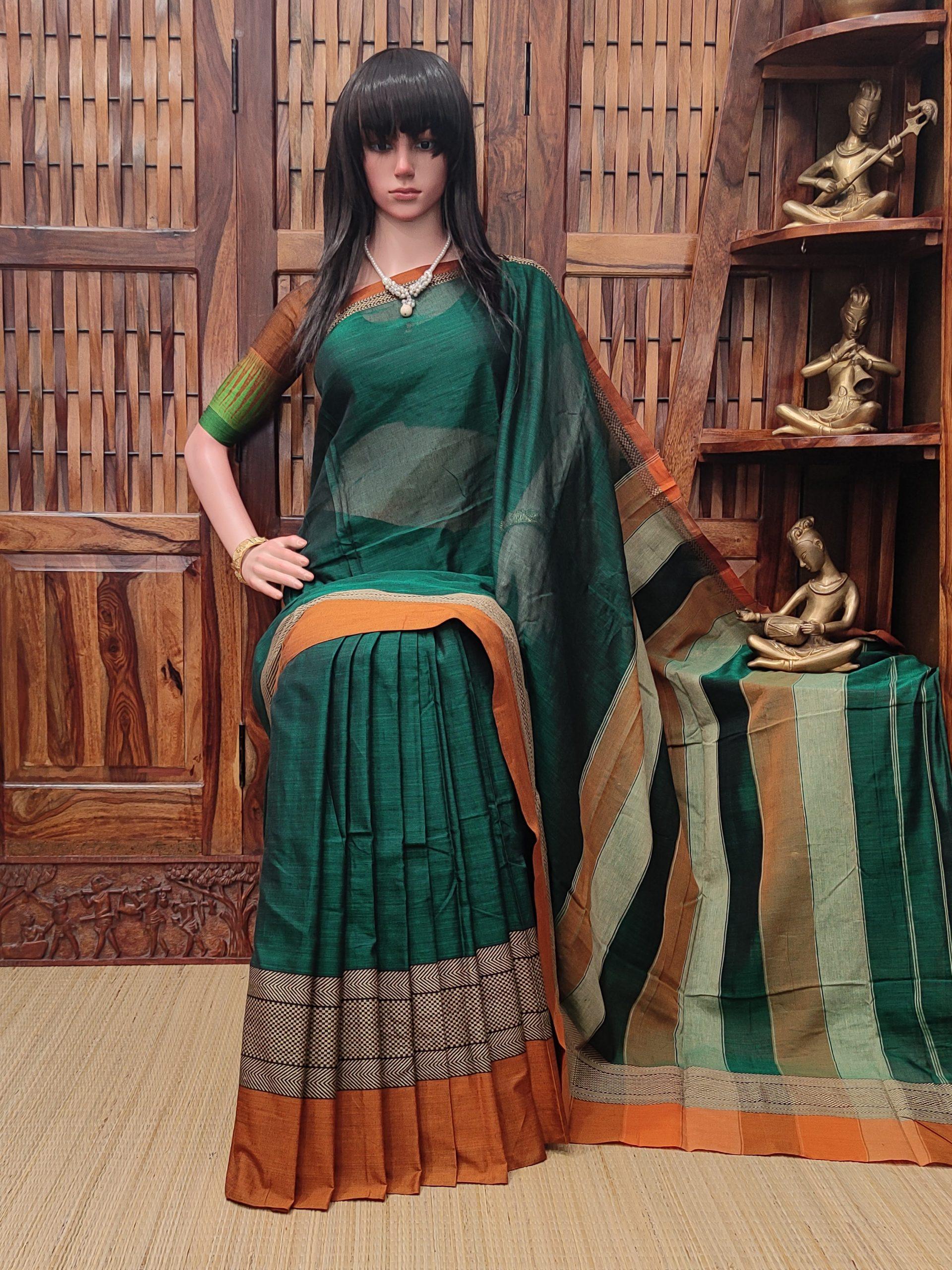 Maheshani - Mercerized Pearl Cotton Saree