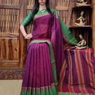 Maitrayee - Mercerized Pearl Cotton Saree