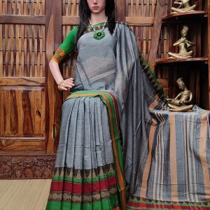 Maitri - Mercerized Pearl Cotton Saree