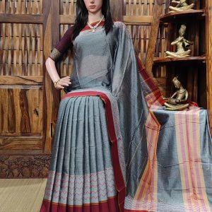 Makshika - Mercerized Pearl Cotton Saree