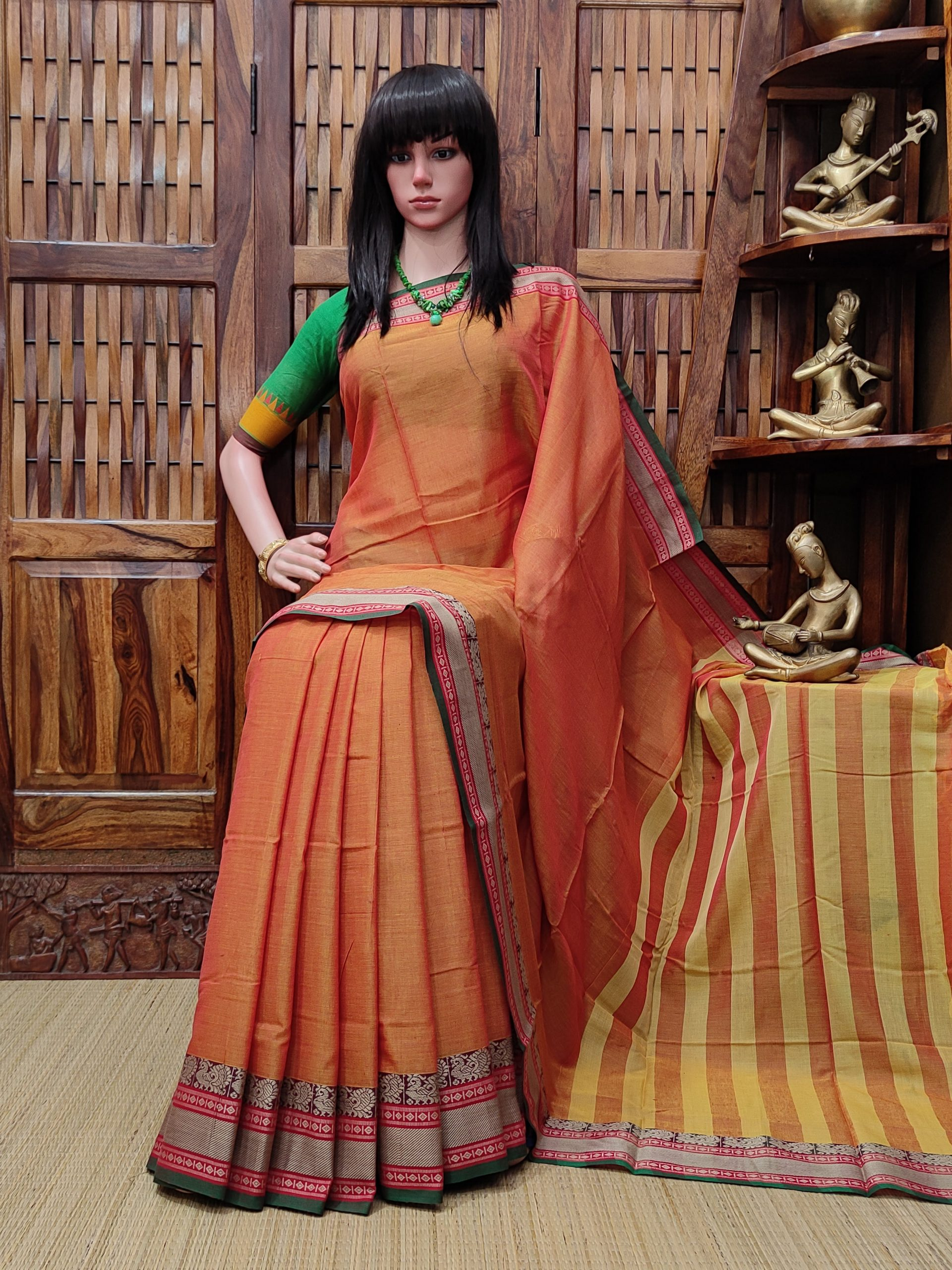 Malaka - Mercerized Pearl Cotton Saree