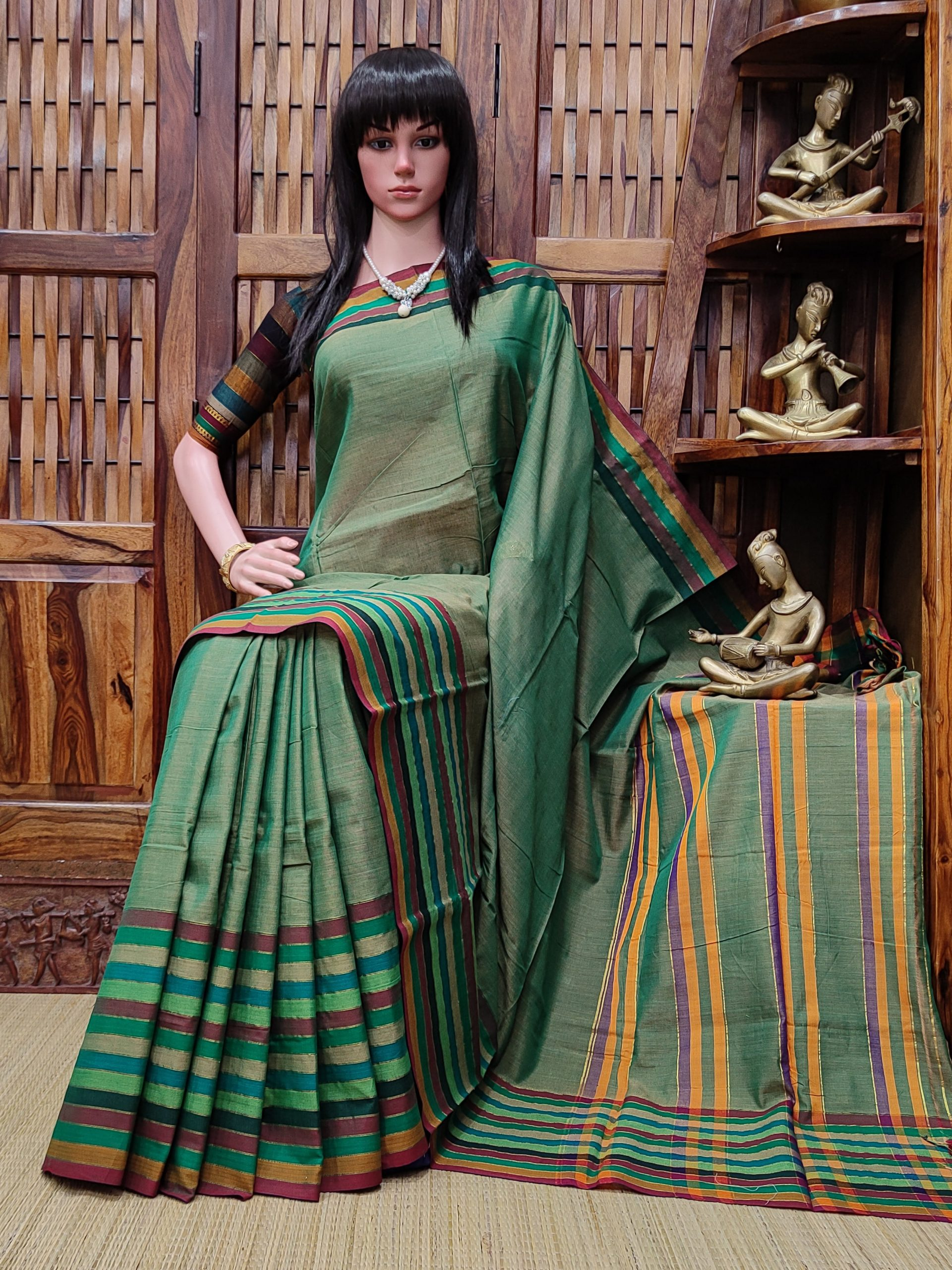 Malavika - Mercerized Pearl Cotton Saree