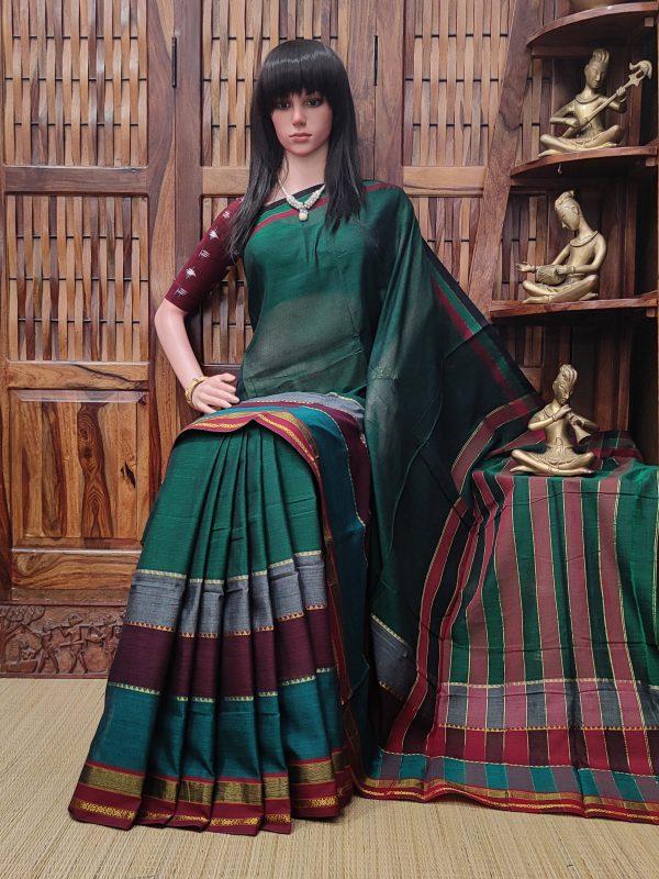 Mamatha - Mercerized Pearl Cotton Saree