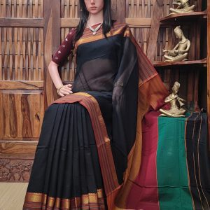 Manasaa - Mercerized Pearl Cotton Saree