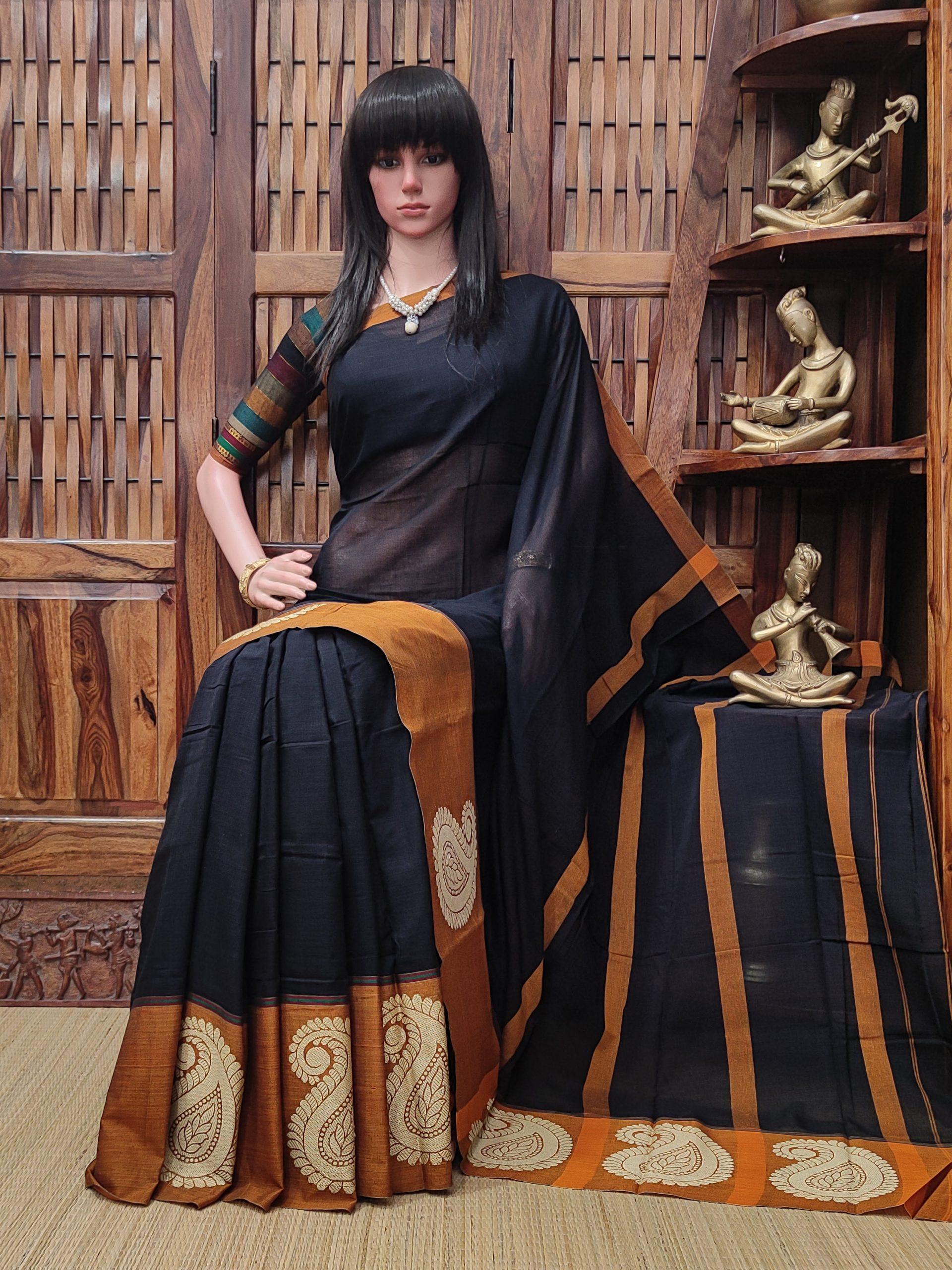Mandamaari - Mercerized Pearl Cotton Saree