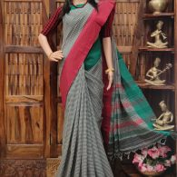 Mandodari - Mercerized Pearl Cotton Saree