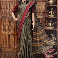 Manhita - Mercerized Pearl Cotton Saree