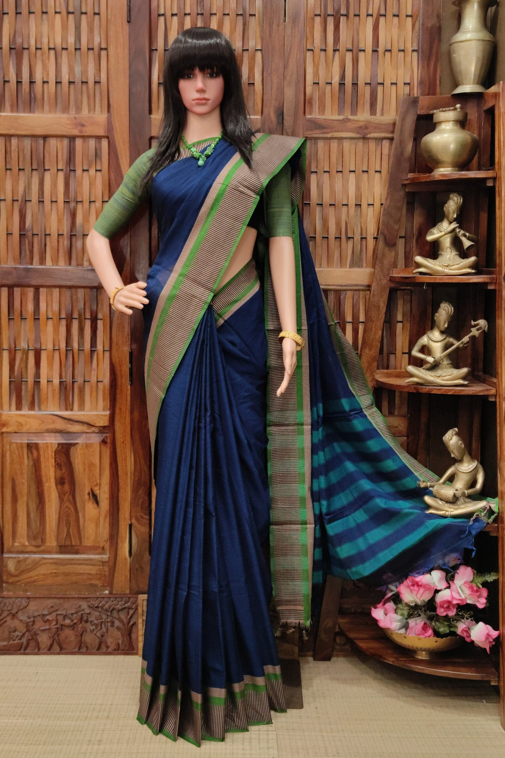 Maninga - Mercerized Pearl Cotton Saree