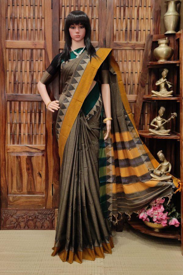 Manishka - Mercerized Pearl Cotton Saree