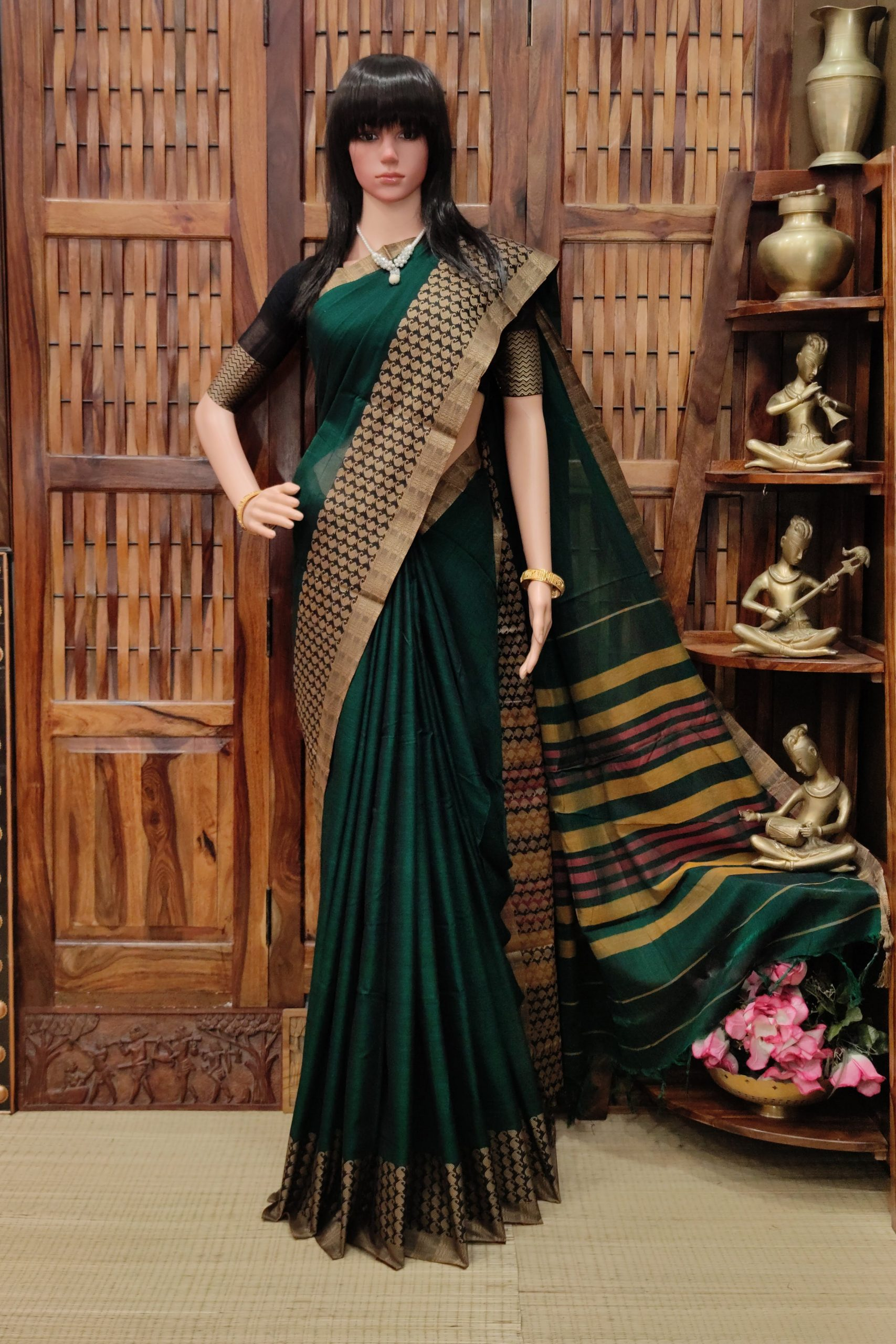 Manisitha - Mercerized Pearl Cotton Saree