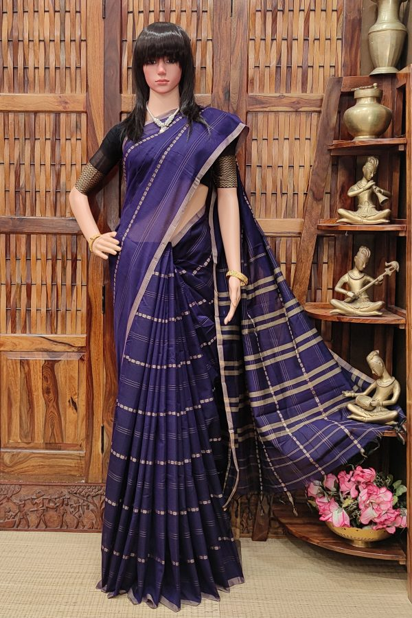 Manjuu - Mercerized Pearl Cotton Saree