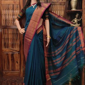 Manorama - Mercerized Pearl Cotton Saree