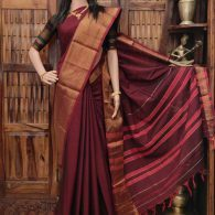 Mantakini - Mercerized Pearl Cotton Saree