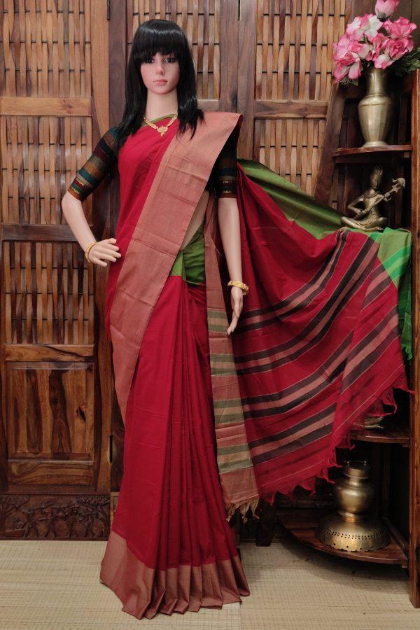 Manuranjani - Mercerized Pearl Cotton Saree