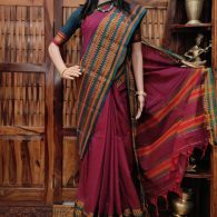 Maruva - Mercerized Pearl Cotton Saree