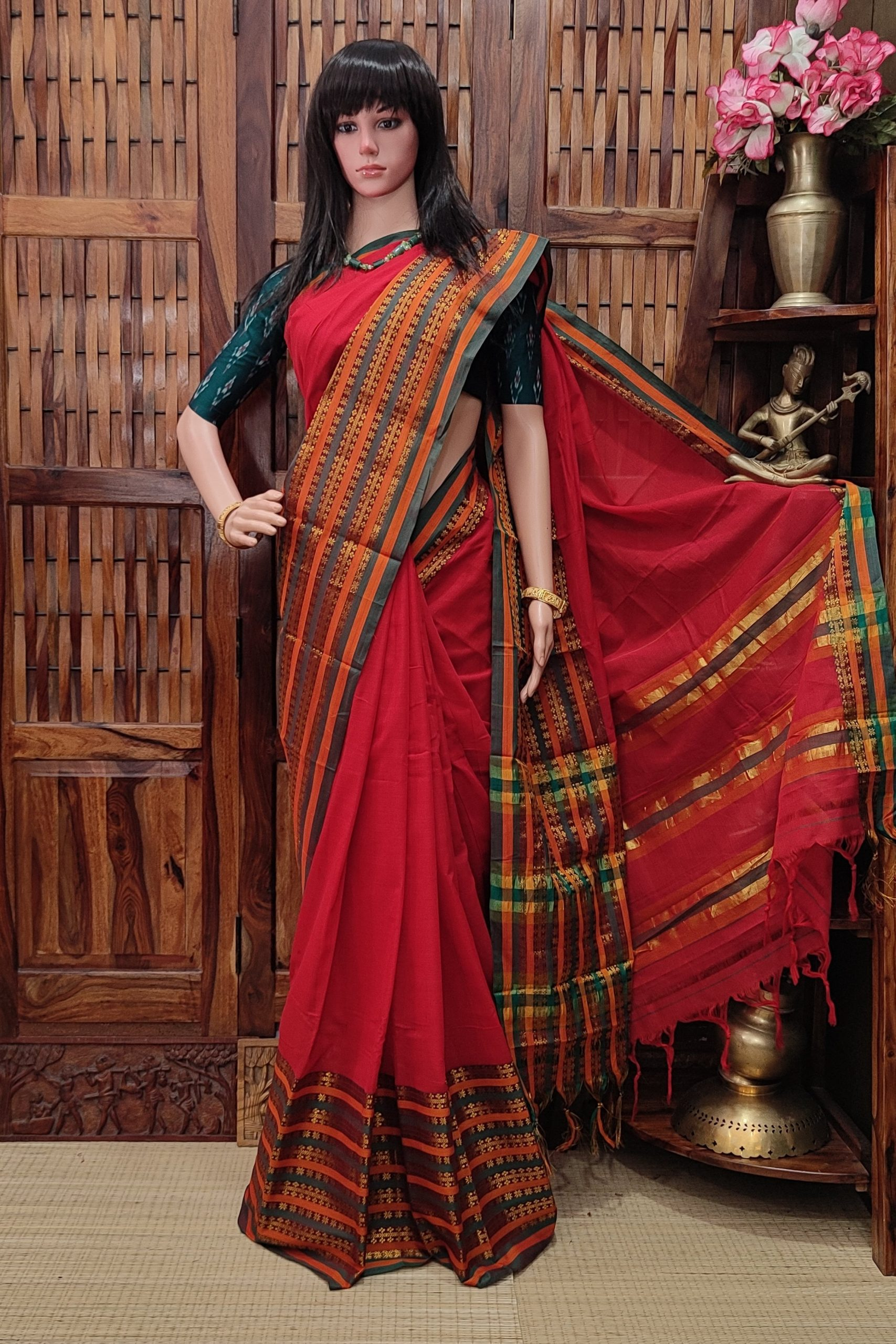 Maryada - Mercerized Pearl Cotton Saree