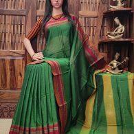 Maushmi - Mercerized Pearl Cotton Saree