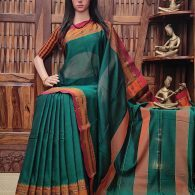 Mayoora - Mercerized Pearl Cotton Saree