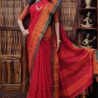 Mayurika - Mercerized Pearl Cotton Saree