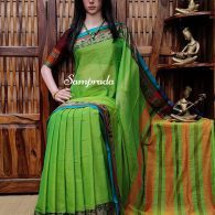 Meenal - Mercerized Pearl Cotton Saree