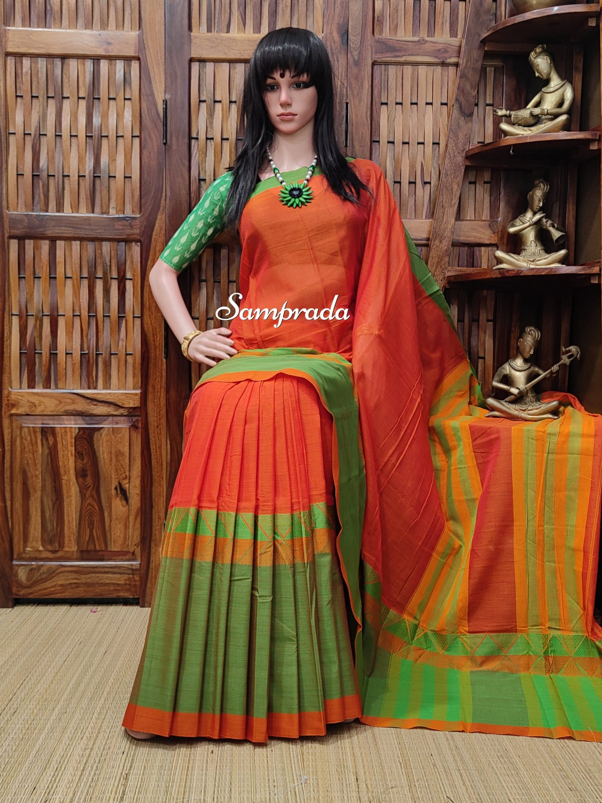 Meghaa - Mercerized Pearl Cotton Saree