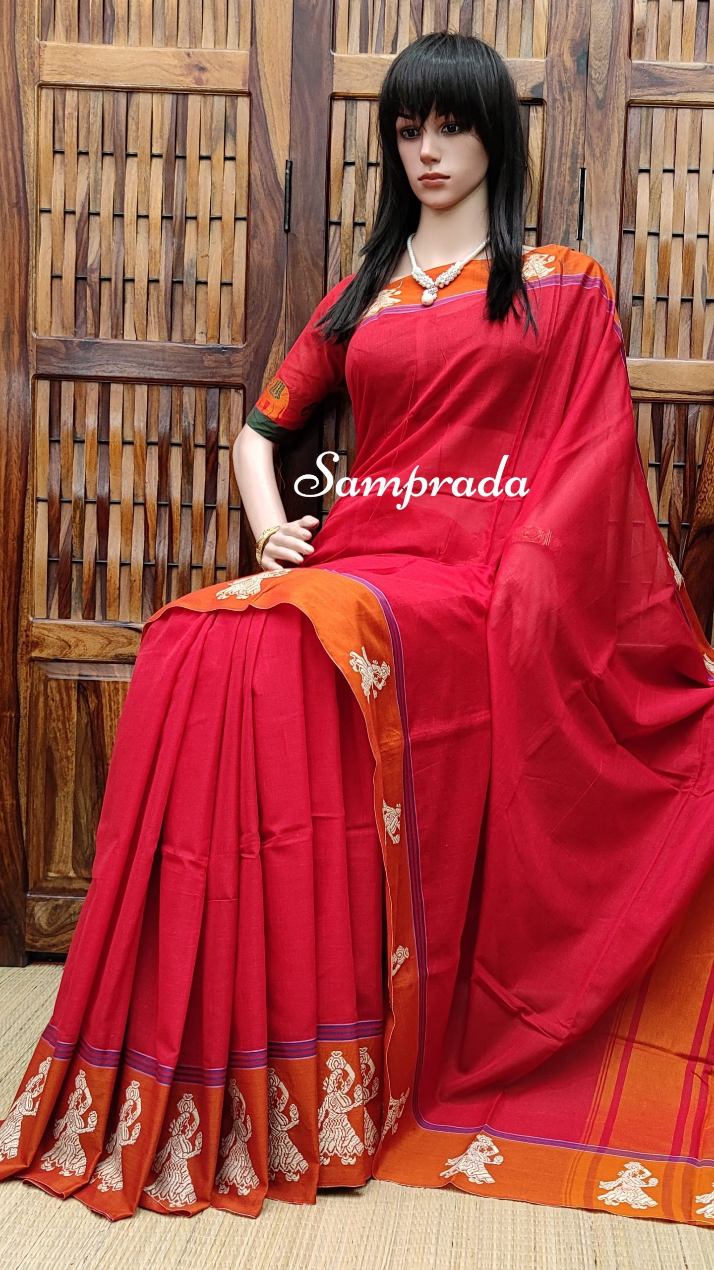 Meghal - Mercerized Pearl Cotton Saree