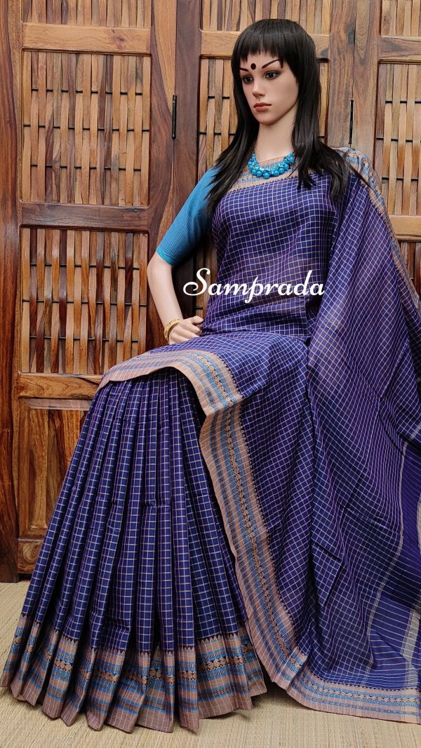 Megharanjani - Mercerized Pearl Cotton Saree