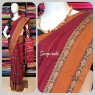Methal - Mercerized Pearl Cotton Saree
