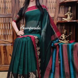 Mirthika - Mercerized Pearl Cotton Saree