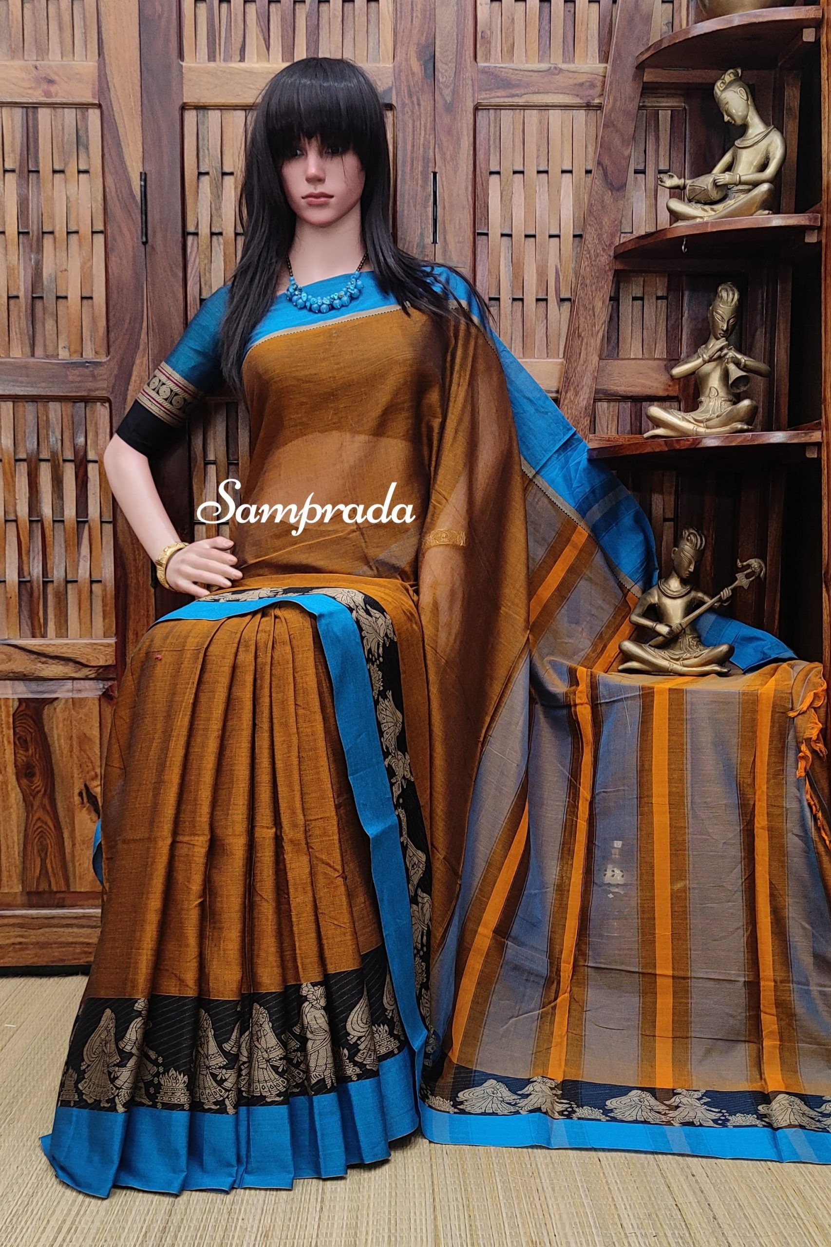 Moksha - Mercerized Pearl Cotton Saree