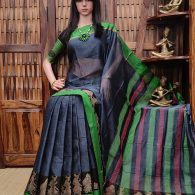 Moothi - Mercerized Pearl Cotton Saree