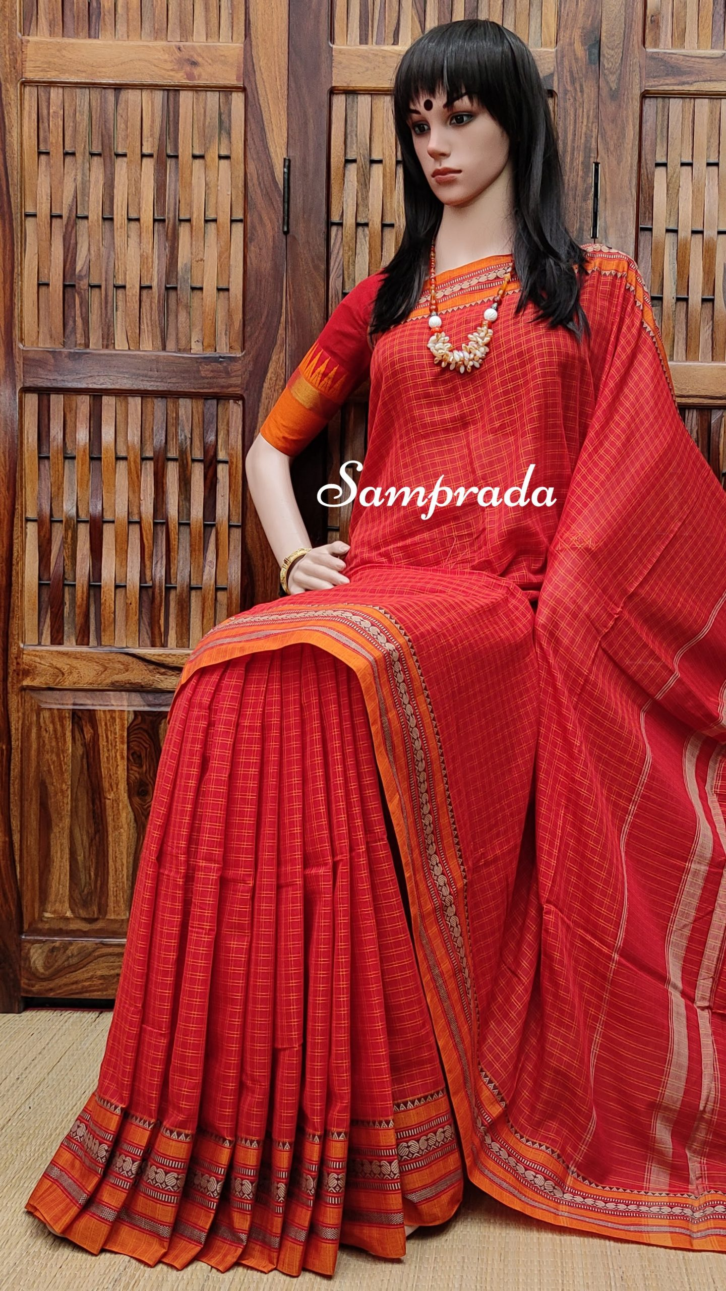 Moyuri - Mercerized Pearl Cotton Saree