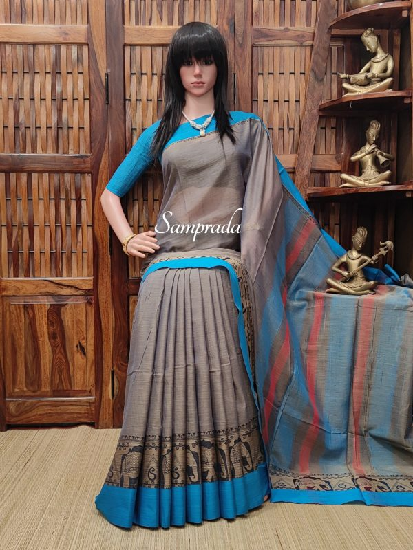 Mrunal - Mercerized Pearl Cotton Saree