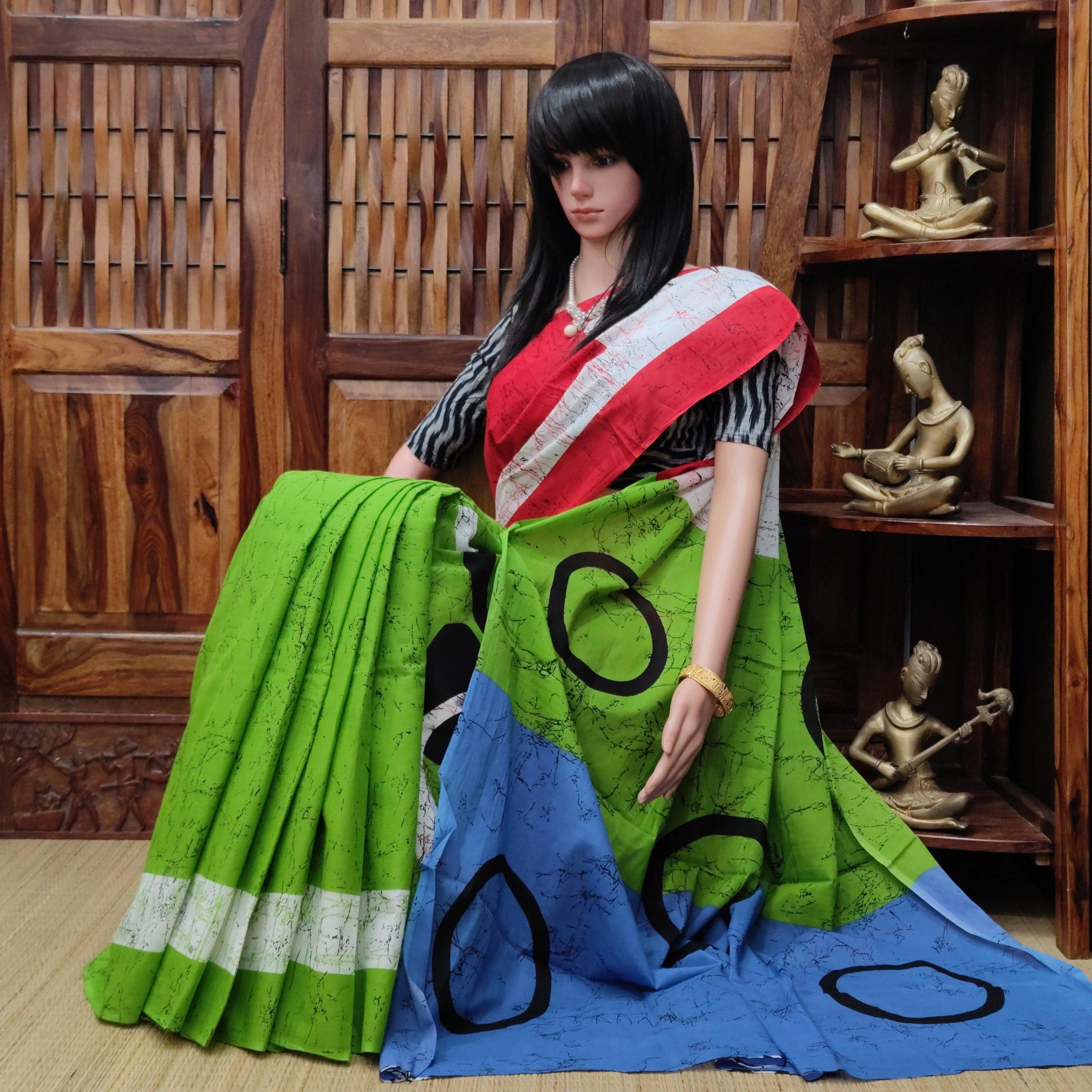 Maanavika - Mulmul Cotton Saree