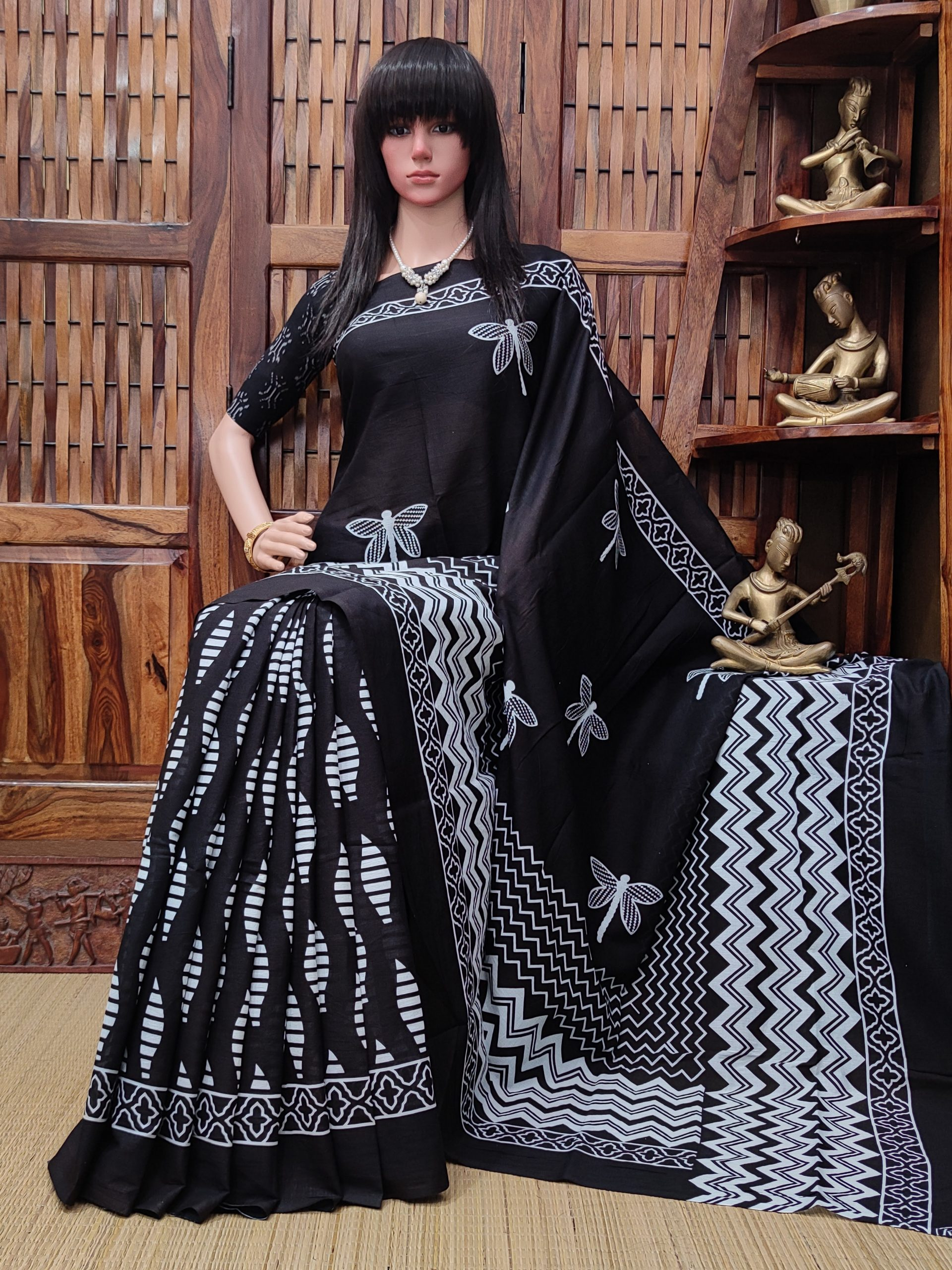 Netravati - Mulmul Cotton Saree
