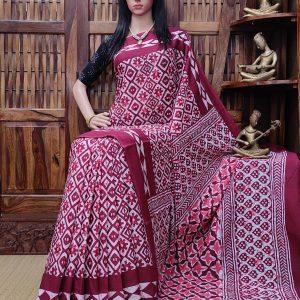 Nichika - Mulmul Cotton Saree