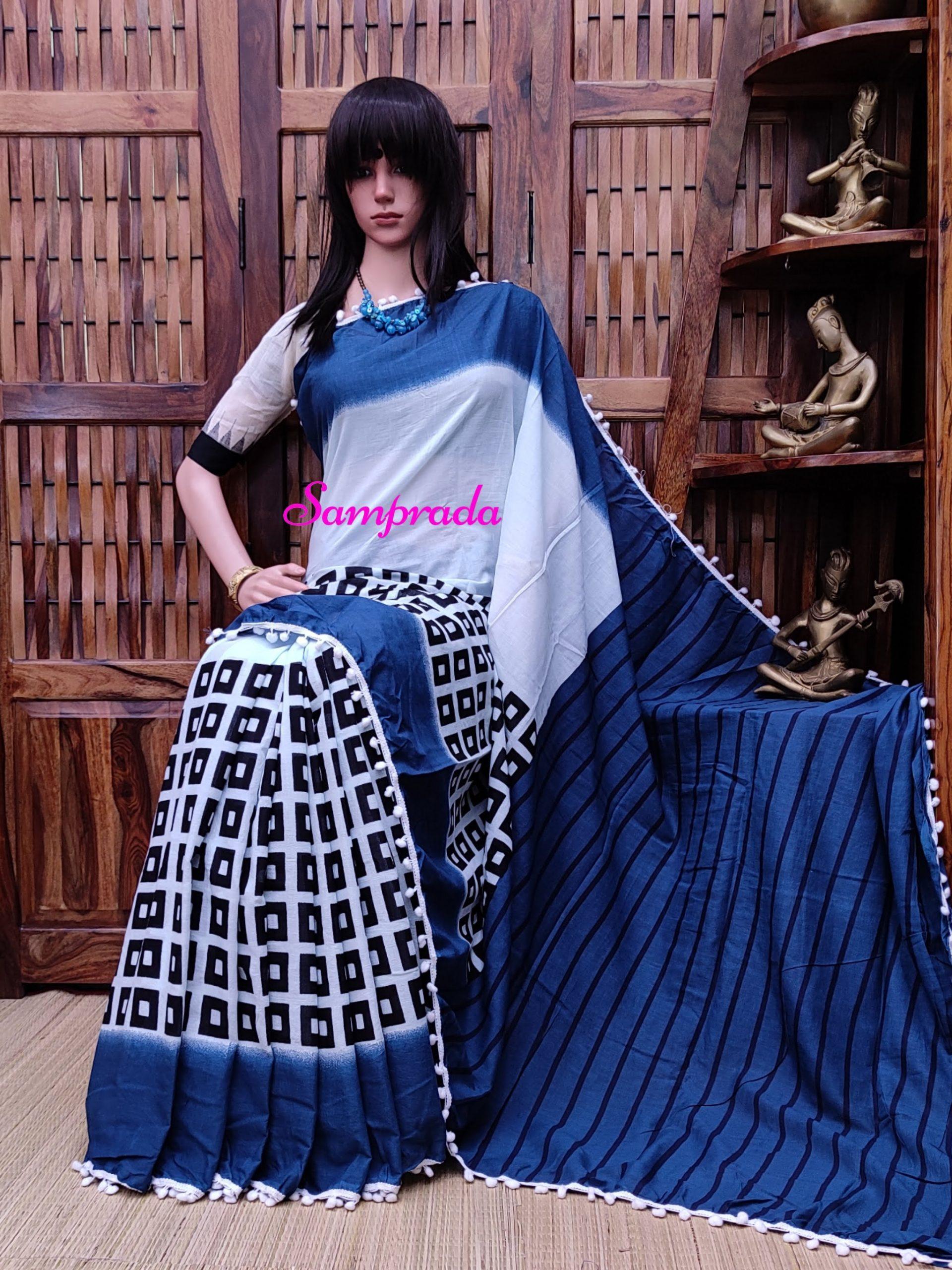 Nikasha - Mulmul Cotton Saree